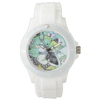 Reloj De Pulsera Impresión de color de lujo de agua del collage de