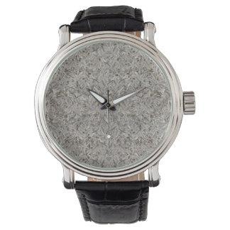 Reloj De Pulsera Impresión tropical de plata