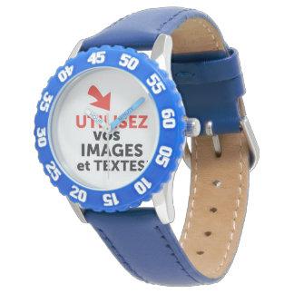 Reloj De Pulsera Imprimir sus diseños en línea DIY en Francés