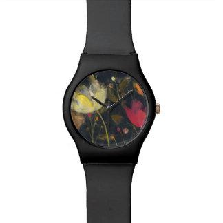 Reloj De Pulsera Jardín del claro de luna en negro