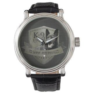 Reloj De Pulsera K-9 unidad - pastor alemán de la unidad de policía