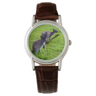 Reloj De Pulsera KangaROOS gris en hierba verde,