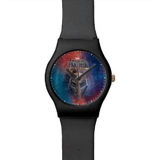 Reloj De Pulsera La máscara tribal negra de la pantera el |
