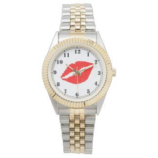 Reloj De Pulsera Labios rojos