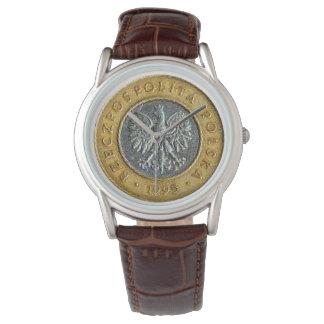 Reloj De Pulsera Lado trasero de la moneda del zlotych del polaco 2
