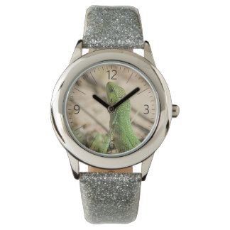 Reloj De Pulsera Lagarto verde