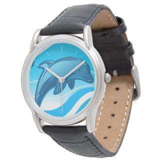 Reloj De Pulsera Las ondas de salto del delfín