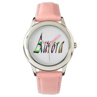 Reloj De Pulsera Logotipo conocido de los chicas de la aurora,