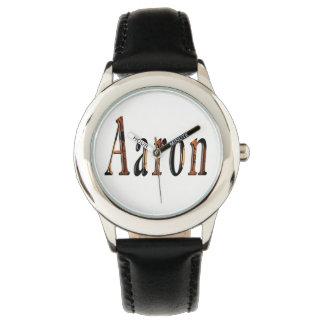 Reloj De Pulsera Logotipo conocido de los muchachos de Aaron,