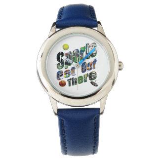 Reloj De Pulsera Los deportes salen allí del logotipo de la imagen,
