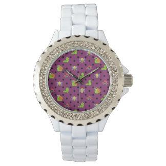 Reloj De Pulsera Lunares de la oruga de la abeja del caracol del