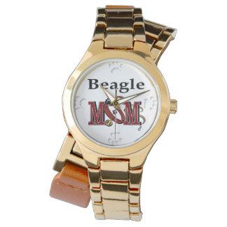 Reloj De Pulsera Mamá del perro del beagle