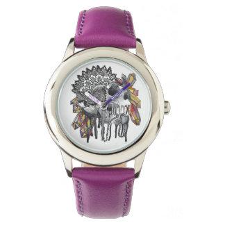 Reloj De Pulsera Mandala cristalina del cráneo