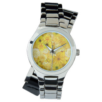 Reloj De Pulsera Margarita del Gerbera del ramo de la amistad del