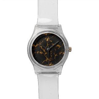 Reloj De Pulsera Mármol elegante style3 - oro negro