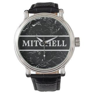 Reloj De Pulsera Mármol negro personalizado NOTA