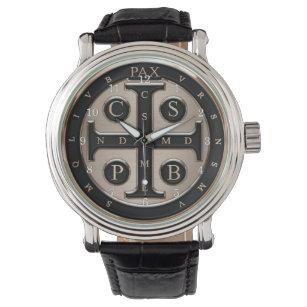 Reloj De Pulsera Medalla St. Benedict