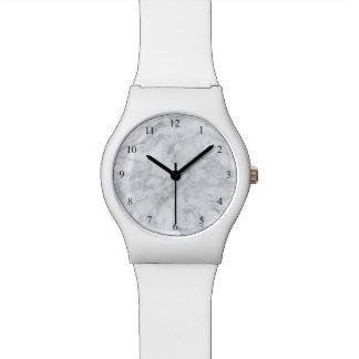 Reloj De Pulsera Mirada de mármol blanca