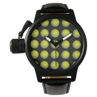 Reloj De Pulsera Modelo amarillo y negro de la pelota de tenis,