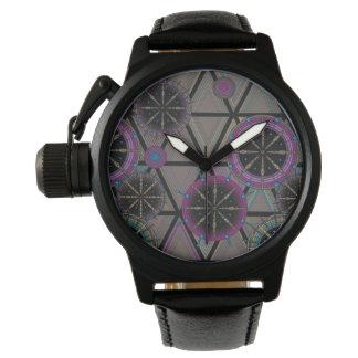 Reloj De Pulsera Modelo brillante de círculos y de triángulos