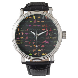 Reloj De Pulsera Modelo colorido retro #5 de los animales