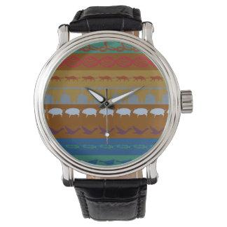 Reloj De Pulsera Modelo colorido retro #6 de los animales