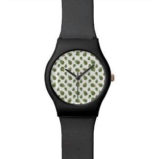 Reloj De Pulsera Modelo de la naturaleza del adorno de las hojas