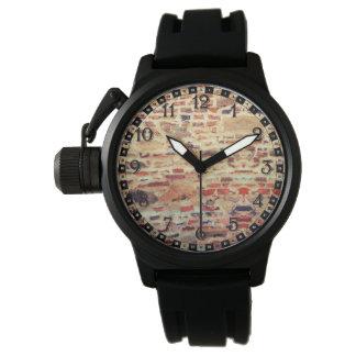 Reloj De Pulsera Modelo de la pared de ladrillo