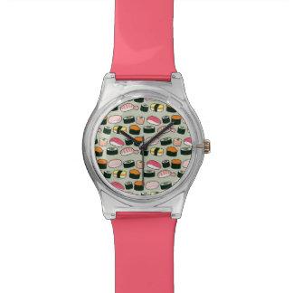 Reloj De Pulsera Modelo de los ejemplos de la diversión del sushi