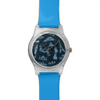 Reloj De Pulsera Modelo del viaje en modelo de los azules