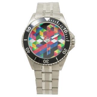 Reloj De Pulsera Modelo geométrico brillante del diamante
