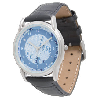 Reloj De Pulsera Modelo moderno de la placa madre azul