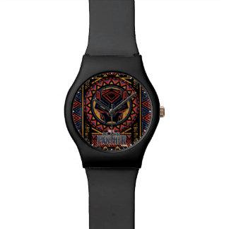 Reloj De Pulsera Modelo tribal de la cabeza de la pantera de la