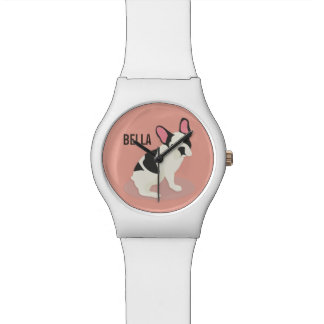 Reloj De Pulsera Monograma. Dogo francés lindo