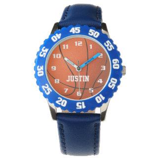 Reloj De Pulsera Monograma fresco con el baloncesto impresionante