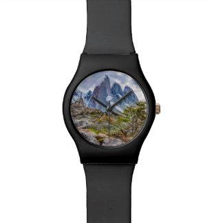 Reloj De Pulsera Montañas Nevado en el EL Chalten Argenti de Laguna