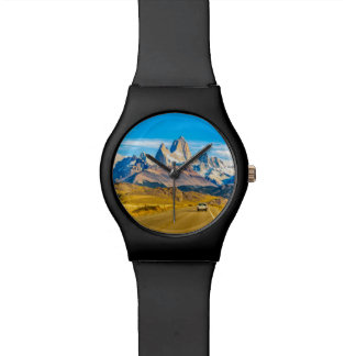Reloj De Pulsera Montañas Nevado los Andes, EL Chalten, la