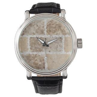 Reloj De Pulsera Moreno geométrico