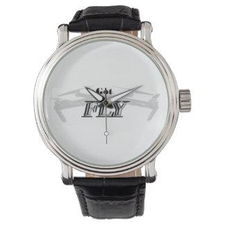 Reloj De Pulsera ¿MOSCA CONSEGUIDA? - Correa de cuero blanca del