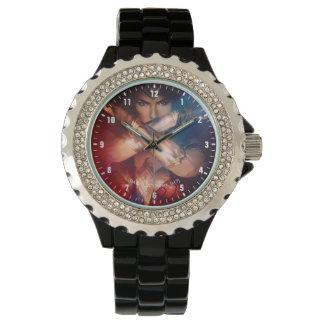Reloj De Pulsera Mujer Maravilla que bloquea con las pulseras