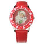Reloj De Pulsera Navidad de Papá Noel del vintage