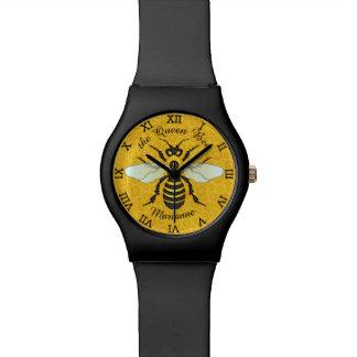 Reloj De Pulsera Nombre personalizado reina de la abeja del panal