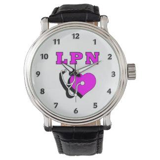 Reloj De Pulsera Oficio de enfermera del RN LPN de las enfermeras