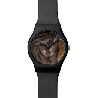 Reloj De Pulsera Oh, esos ojos del dormitorio, gato negro
