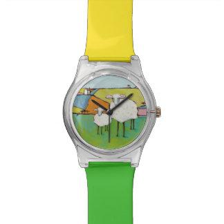 Reloj De Pulsera Ovejas en el prado