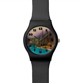 Reloj De Pulsera Paisaje septentrional escénico Canadá rústico