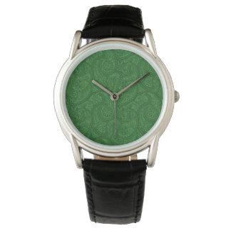 Reloj De Pulsera Paisley verde