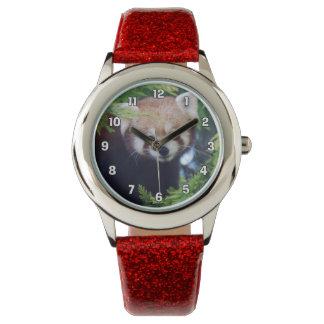 Reloj De Pulsera Panda roja