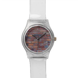 Reloj De Pulsera Pared de ladrillo - ladrillos y mortero mezclados