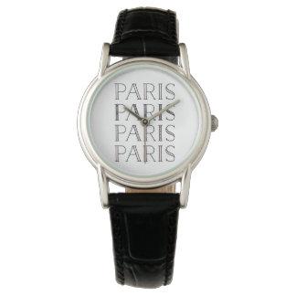Reloj De Pulsera París París París el | se ruboriza francés rosado
